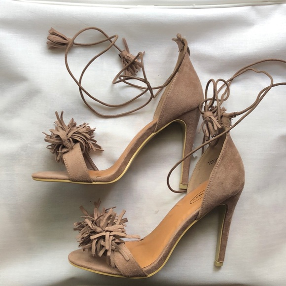 No Doubt Shoes - No Doubt Wrap Around Ankle Sandals Size 10 New